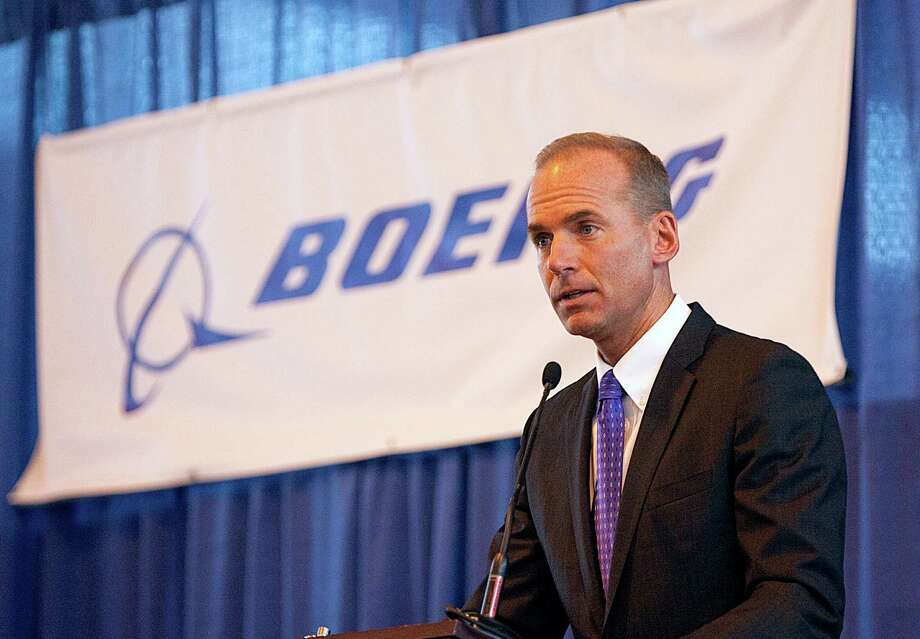 FILE - In this Aug. 19, 2010 file photo, Dennis Muilenburg, then executive vice president of Boeing Co., and president and CEO of Boeing Defense, Space and Security, speaks during a ceremony at MidAmerica Airport in Mascoutah, Ill. Boeing on Tuesday, June 23, 2015 said Muilenburg, now President and Chief Operating Officer, will become its new CEO on July 1. He succeeds Jim McNerney, who is stepping away from the controls after 10 years. (Tim Vizer/Belleville News-Democrat via AP, File) Photo: Tim Vizer, MBO / Belleville News-Democrat