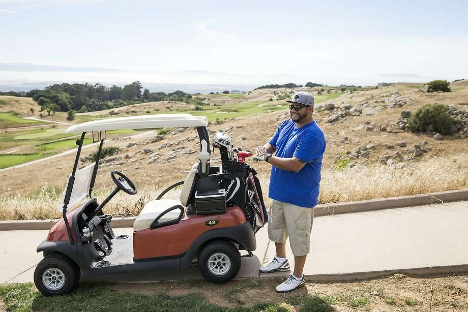 Adrian Martinez prepares to play a hole at the TPC Stonebrae Country Club course in Hayward, Calif., on Saturday, June 20, 2015.  This July the course will host the Stonebrae Classic, the PGA's only regularly scheduled golf tournament in the Bay Area. Photo: Laura Morton, Special To The Chronicle