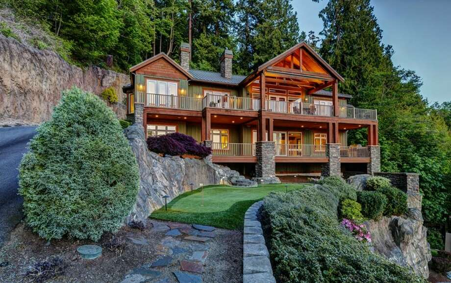 This home at 13229 Puget Sound Blvd. in Edmonds takes beach living to a new level with four bedrooms and four and a half baths on 1.6 acres. It's listed for $2.395 million. For more on this house, see the full listing here. Photo: Arnold Grant