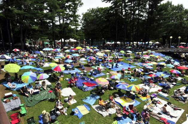 It was a day to lounge about and listen to cool jazz during the 35th Freihofer's Saratoga Jazz Festival at SPAC in Saratoga Springs N.Y. Saturday June 30, 2012. (Michael P. Farrell/Times Union) Photo: Michael P. Farrell / 00018280A