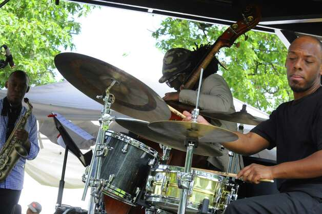 The Marcus Strickland Quartet performs on the gazebo during the Freihofer's Saratoga Jazz Festival at SPAC in Saratoga Springs, NY Saturday June 25, 2011. ( Michael P. Farrell/Times Union ) Photo: Michael P. Farrell / 00013651A