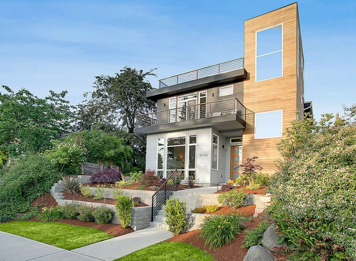 This home, 2134 44th Ave. S.W., is listed for $1,099,900. The five bedroom, three-and-a-half bathroom home was built in 2013 and designed by Seattle-based firm Isola Homes. The home features an open floor plan, plenty of windows to let in natural light and has both mountain and Puget Sound views. You can see the full listing here.