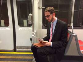 Supervisor Scott Wiener getting work done on Muni