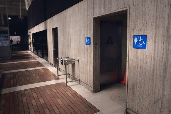 The above ground Balboa Park BART station, in San Francisco, Calif., has working public restrooms available for use, as seen on Wed. June 24, 2015. Public restrooms in underground BART stations throughout the Bay Area  system have been closed since Sept. 11, 2001 due to security concerns. The restrooms could reopen if some directors have their way, as the transit system is looking at ways it could create safe, and maybe even sanitary, restrooms.