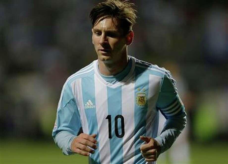 Lionel Messi in a match against Jamaica in Copa América. Photo: AP