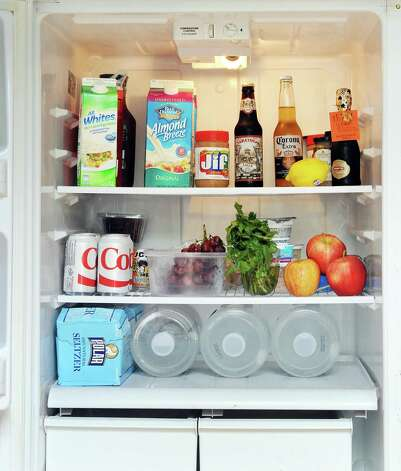 Time Warner Cable News anchor Kate Welshofer's refrigerator Thursday June 18, 2015 in Albany, NY.   (John Carl D'Annibale / Times Union) Photo: John Carl D'Annibale / 00032319A