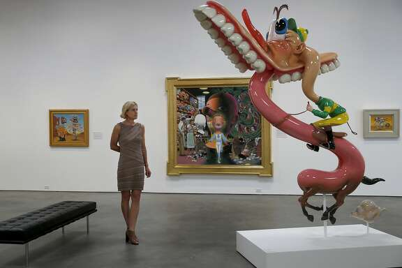 Diane Evans walks through her modern museum with pieces by Robt. Williams Wednesday June 24, 2015. Diane Evans, the executive director of the new Art Museum of Sonoma County in Santa Rosa, Calif.  Currently the museum has a show by noted artist Robt. Williams.