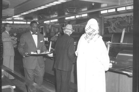 Integration of lunch counter at F.W. Woolworth's on March 16, 1960.