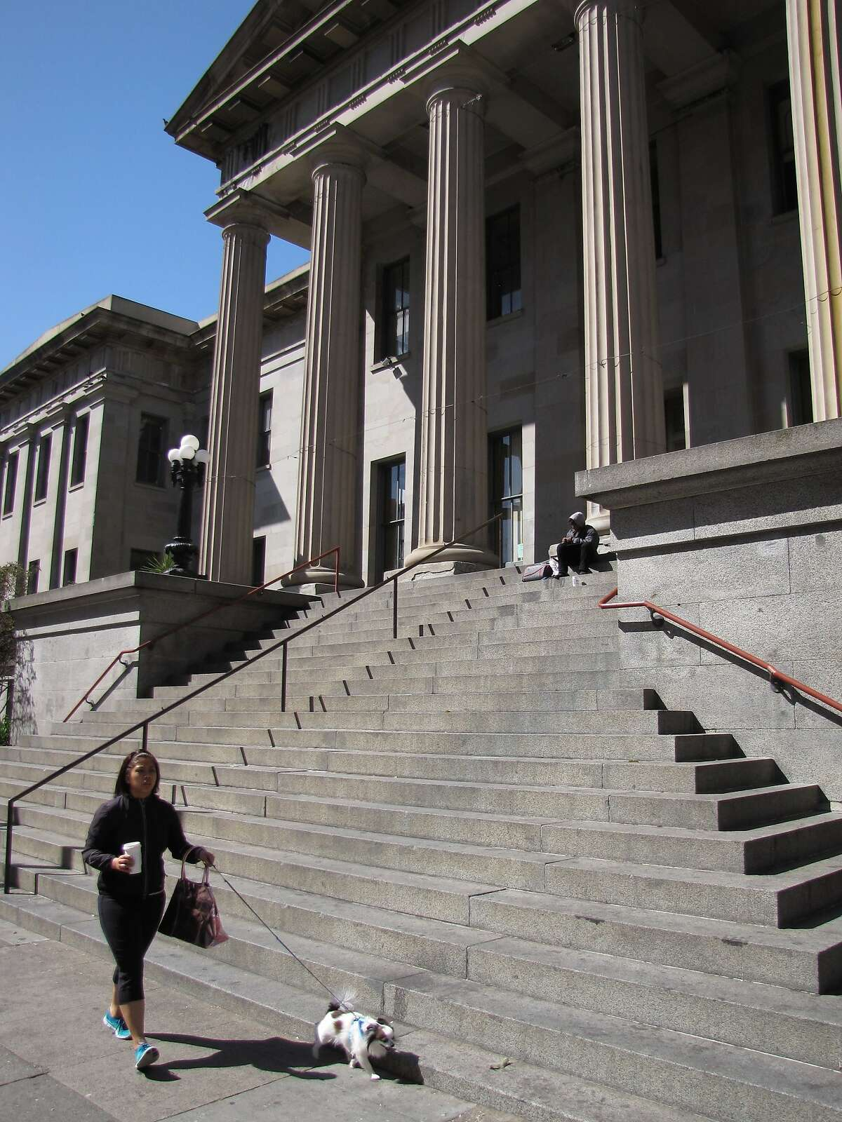 The Old U.S. Mint, built in 1874, sits empty and neglected even though the City of San Francisco owns it and awarded it in 2003 to a historical society that hoped to restore it as a museum, but couldn't raise the necessary funds.