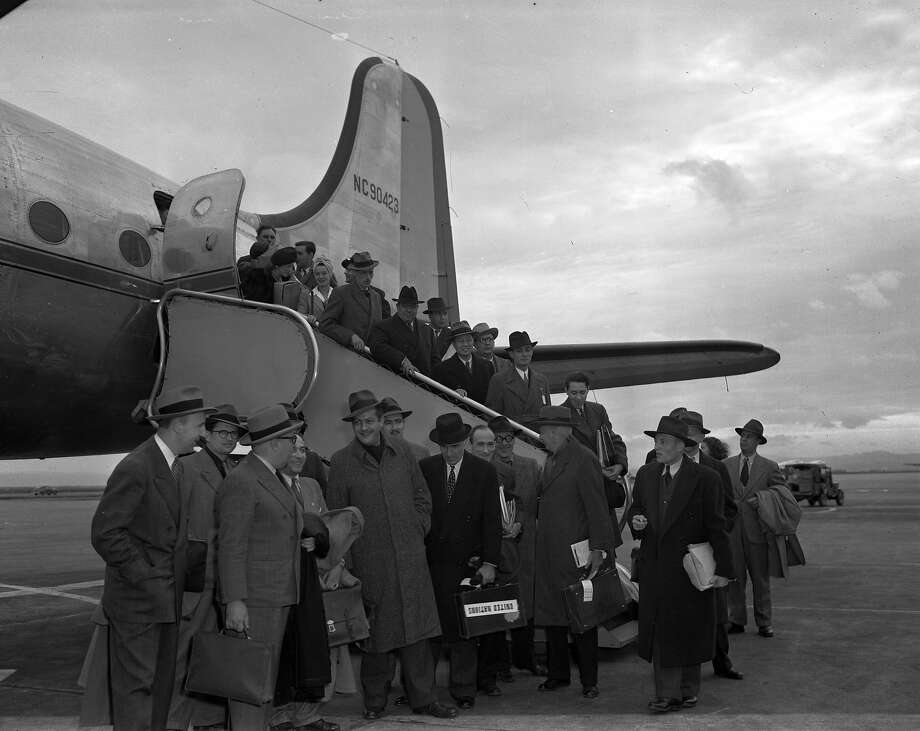 The United Nations Site Selection committee arrives in San Francisco  Photo shot 11/21/1946 Photo: Joe Rosenthal, The Chronicle