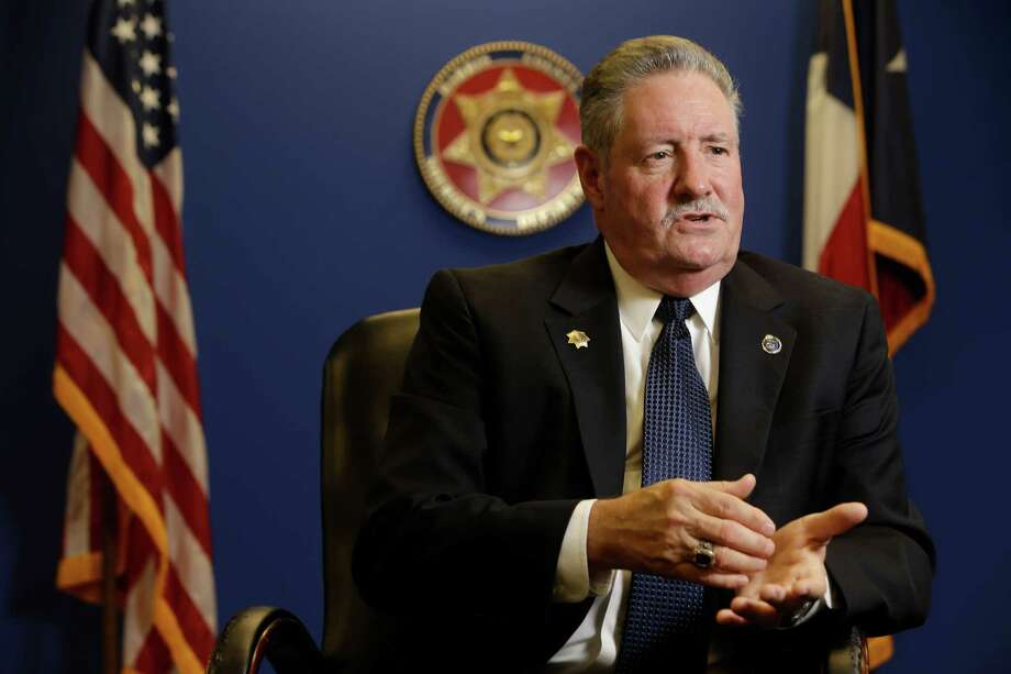 Harris County Sheriff Ron Hickman has picked 19 men - 14 whites, 3 blacks and 2 Hispanics - for his top command. He also has scrapped the liaison role for the gay community. Photo: Melissa Phillip, Staff / © 2015  Houston Chronicle