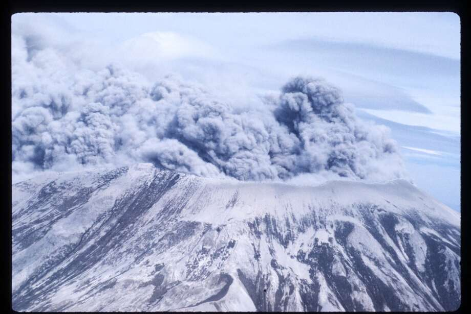 GALLERY: Recent volcano eruptionsOn May 18, 1980, an earthquake caused a landslide on Mount St. Helens'' north face, taking off the top of the mountain and triggering an eruption that killed 57 people, wiped out river valleys and destroyed enough trees to build 300,000 homes. (Photo by John Barr/Liaison) Photo: John T. Barr, Getty Images