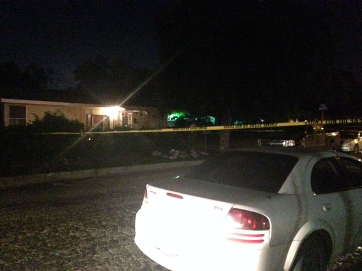 Police investigate a shooting Wednesday evening on the North Side. One man was found with a gunshot wound in his right shoulder.