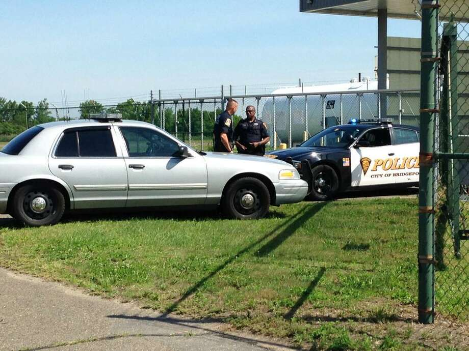Bridgeport and State Police at the scene of a fatal construction accident at Sikorsky Memorial Airport in Stratford, Conn. on Thursday, June 25, 2015, Photo: /