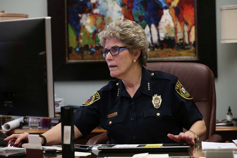 Bexar County Sheriff Susan Pamerleau works in her office at the Bexar County Jail, Monday, June 22, 2015. The department is in the process of starting construction on an video conferencing site near the jail. It will be used for visits with inmates. Currently, the majority of visits with inmates are face to face through a thick glass. The center is expected to open early 2016 and will save the county over $7 million a year. Photo: Jerry Lara, For The San Antonio Express-News / ©2015 San Antonio Express-News
