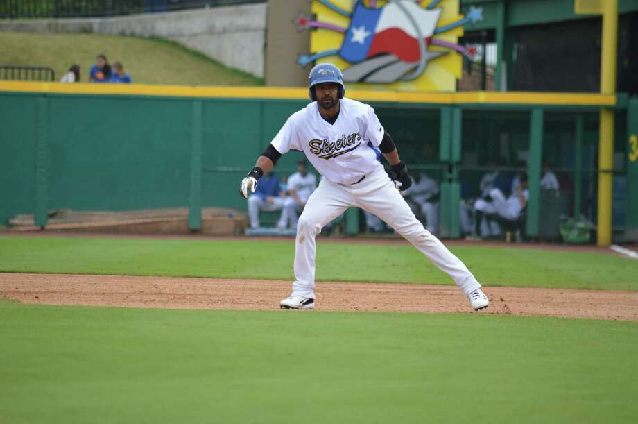 """Willy Taveras now plays for the Sugar Land Skeeters, which will host """"Bark at the Park"""" night Saturday at Constellation Field."""