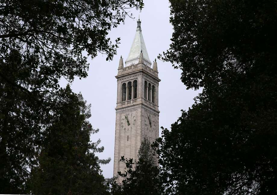 Sather Tower is visible from almost everywhere on the UC Berkeley campus on Tuesday, Jan. 27, 2015. The university is commemorating the 100th birthday of the 307-foot tower, which is commonly known as the Campanile. Photo: Paul Chinn, The Chronicle
