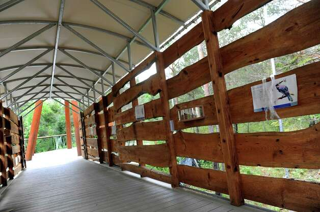 The bird viewing blind on the new Wild Walk on Tuesday, June 23, 2015, at the Wild Center in Tupper Lake, N.Y. (Cindy Schultz / Times Union) Photo: Cindy Schultz / 00032307A