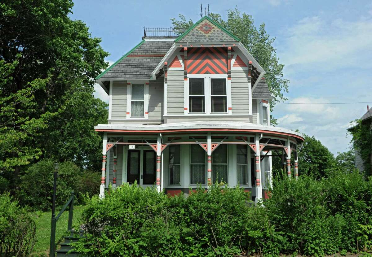 Exterior of stick Victorian style home belonging to Paul Dunleavy and Tor Shekerjian on Tuesday, June 23, 2015 in Cohoes, N.Y. (Lori Van Buren / Times Union)