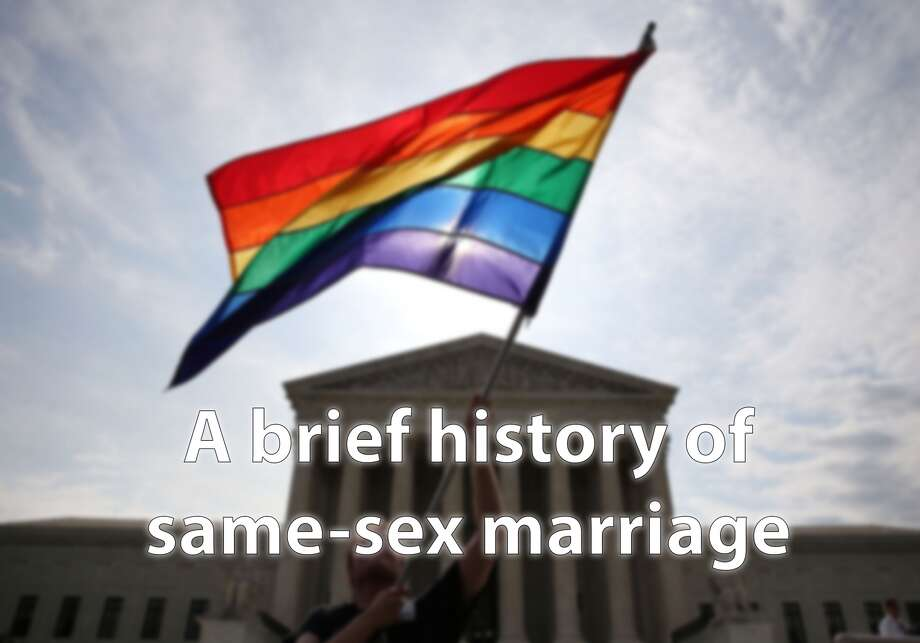 The US Supreme Court is poised to make a potentially historic ruling on the legality of same-sex marriage in America.Take a look back a a brief history of the fight for the right for same-sex couples to marry by clicking through the images in this slideshow.