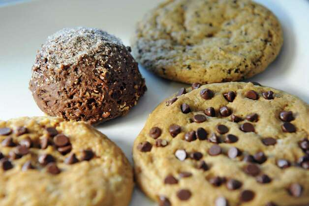 A plateful of assorted vegan cookies on Friday, June 19, 2015, at the Brakes Coffeehouse in Albany, N.Y. (Cindy Schultz / Times Union) Photo: Cindy Schultz / 00032341A