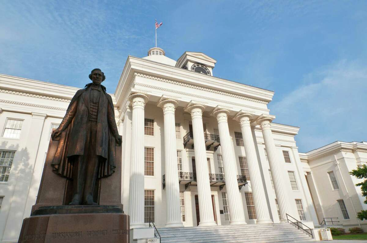 Davis High School is named after Jefferson Davis, president of the Confederate States of America. The school is now 88 percent Hispanic, 10.8 percent African American, 0.1 percent Asian and 0.9 percent white. A statue of Jefferson Davis, first president of the Confederacy, is pictured outside the state capitol building in Montgomery, Ala.