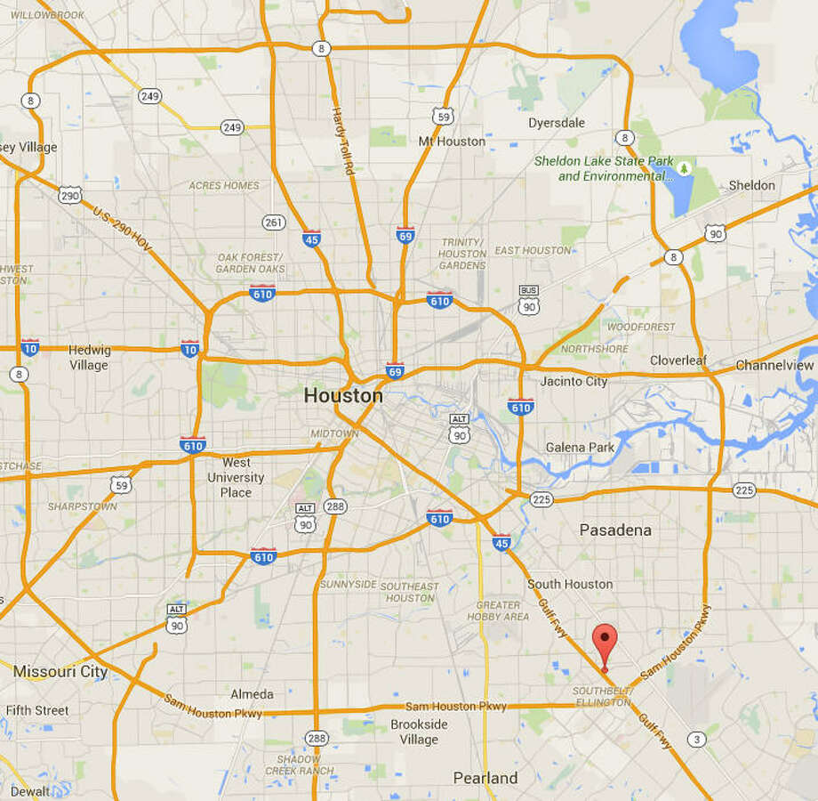 """June 3, 2015 According to the Houston Police Department: """"Officers were involved in a pursuit which ended with a barricaded suspect in a vehicle and a K-9 was deployed. The suspect got out of the vehicle with a large knife and was shot by 2 Officers. The suspect was pronounced dead at the scene.""""READ ABOUT IT Photo: Google Maps"""