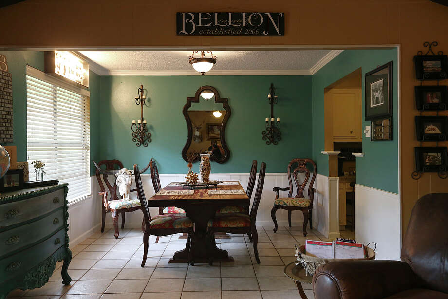 A view of the dinning room from the living room of the Bellion residence near Hill Country Village. Photo: Jerry Lara /San Antonio Express-News / ©2015 San Antonio Express-News