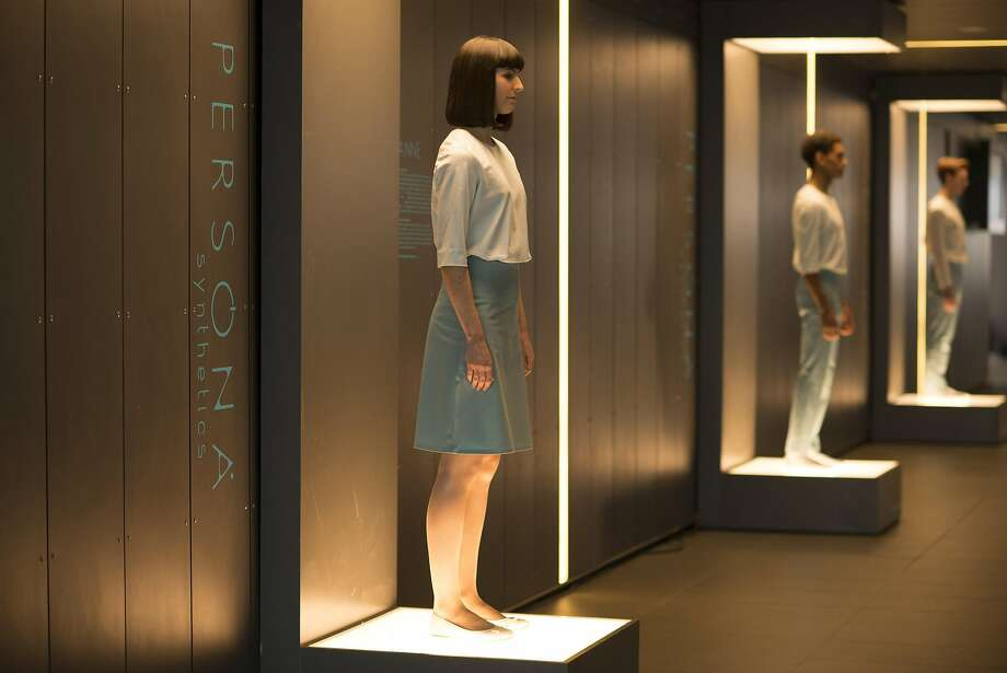 A display of artificially intelligent domestic helpmates known as synths before they've been activated and programmed in AMC drama, 'Humans.'  June 2015 Synth store  - Humans _ Season 1, Episode 1 - Photo Credit: Des Willie/Kudos/AMC/C4 Photo: Courtesy Of AMC