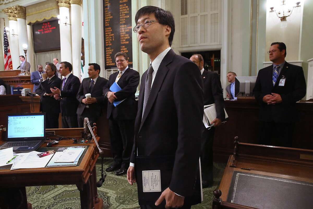 Dr. Richard Pan, pediatrician and senator representing Sacramento, listens as his senate bill 277 is passed at the California state capitol building in Sacramento, Calif., on Thursday, June 25, 2015. This bill would end California's vaccine exemption loophole and boost immunization rates at California schools.