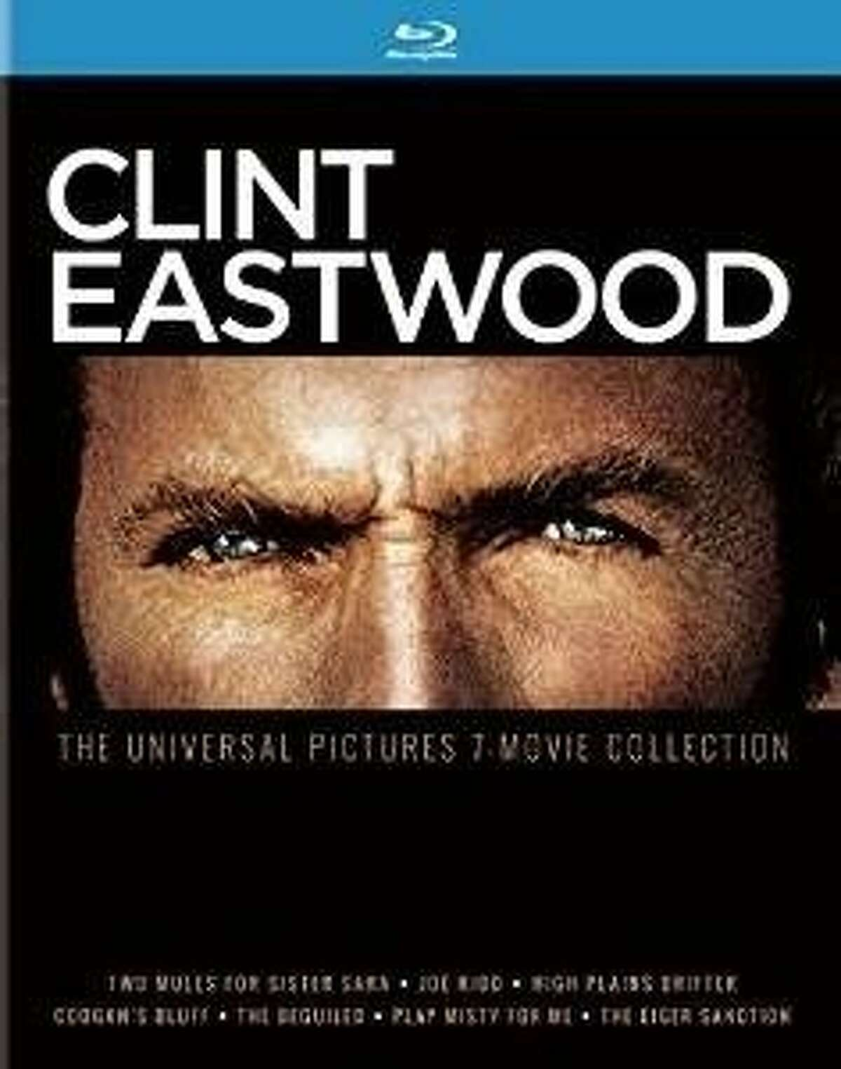 """blu-ray cover: """"Clint Eastwood: Universal Pictures 7 Movie Collection"""""""