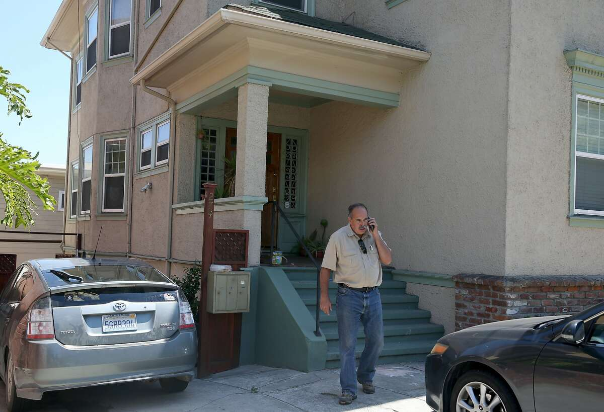 Paul Dostie and his cadaver dog Buster picked up a possible scent from missing woman Kristen Modaferri, in the basement of the apartment building she reportedly lived at, in Oakland, Calif. on Thursday, June 25, 2015. The student from North Carolina was last seen at the Crocker Galleria cafe where she worked in June 1997.