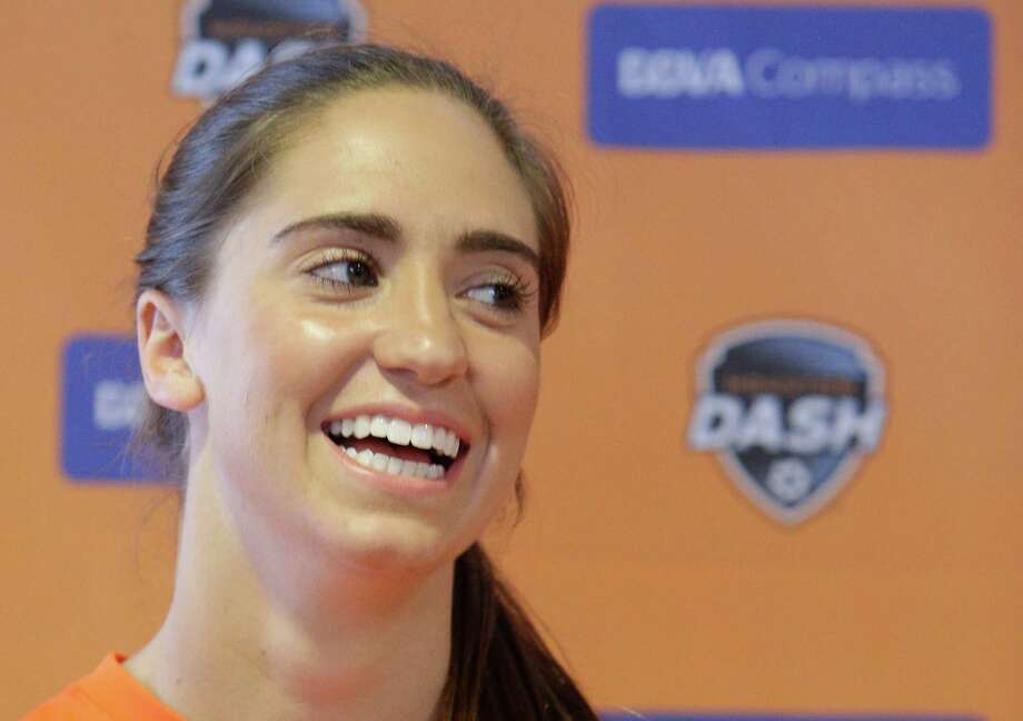Houston Dash midfielder Morgan Brian, 24, is going to graduate from college. Photo: Billy Smith II / Houston Chronicle