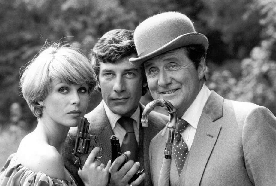 FILE PHOTO: Avengers star Patrick Macnee dies aged 93 Joanna Lumley, Gareth Hunt and Patrick MacNee pose for publicity photos for the TV series 'The New Avengers'.   (Photo by Central Press/Getty Images) Photo: Central Press, Stringer / Hulton Archive