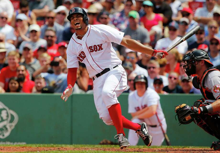 BOSTON, MA - JUNE 25:  Xander Bogaerts #2 of the Boston Red Sox reacts to fouling a ball off himself during the third inning in a game against the Baltimore Orioles at Fenway Park on June 25, 2015 in Boston, Massachusetts.  (Photo by Winslow Townson/Getty Images) ORG XMIT: 538584239 Photo: Winslow Townson / 2015 Getty Images