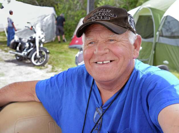 Harley Rendezvous organizer and property owner Frank Potter during the annual three day event Thursday June 25, 2015 in Duanesburg, NY.  (John Carl D'Annibale / Times Union) Photo: John Carl D'Annibale / 00032261A