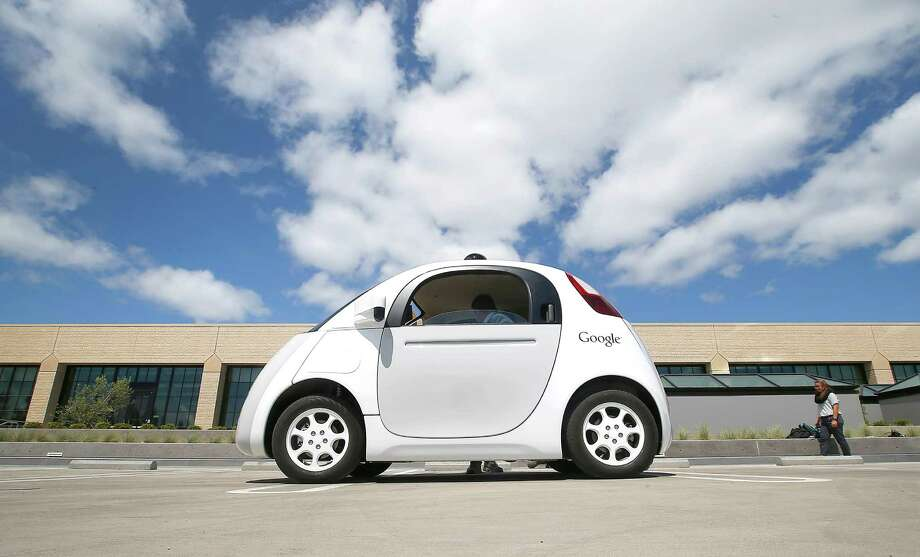 Google's new self-driving prototype cars are now being tested on streets in Silicon Valley. Photo: Tony Avelar, FRE / FR155217 AP