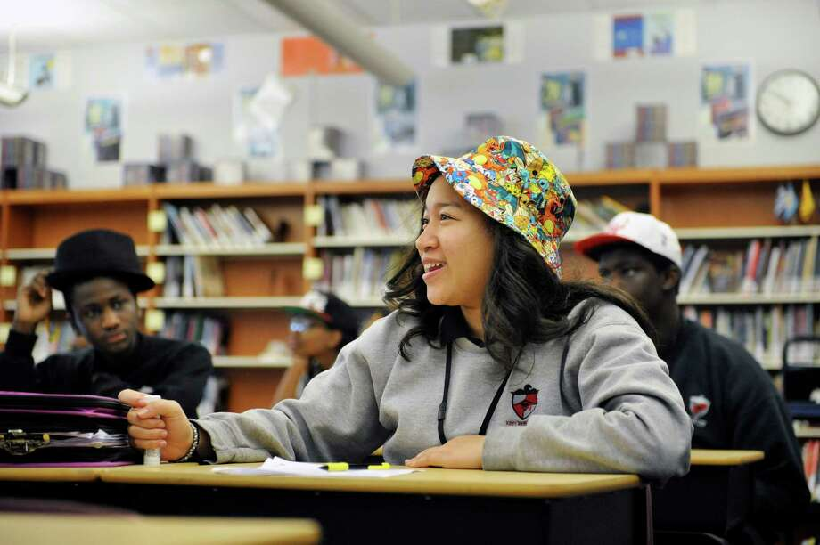 Kira Russell, 13, answers a question during health class at KIPP Tech Valley middle school on Tuesday, March 31, 2015, in Albany, N.Y.  (Paul Buckowski / Times Union) Photo: PAUL BUCKOWSKI / 00031207A