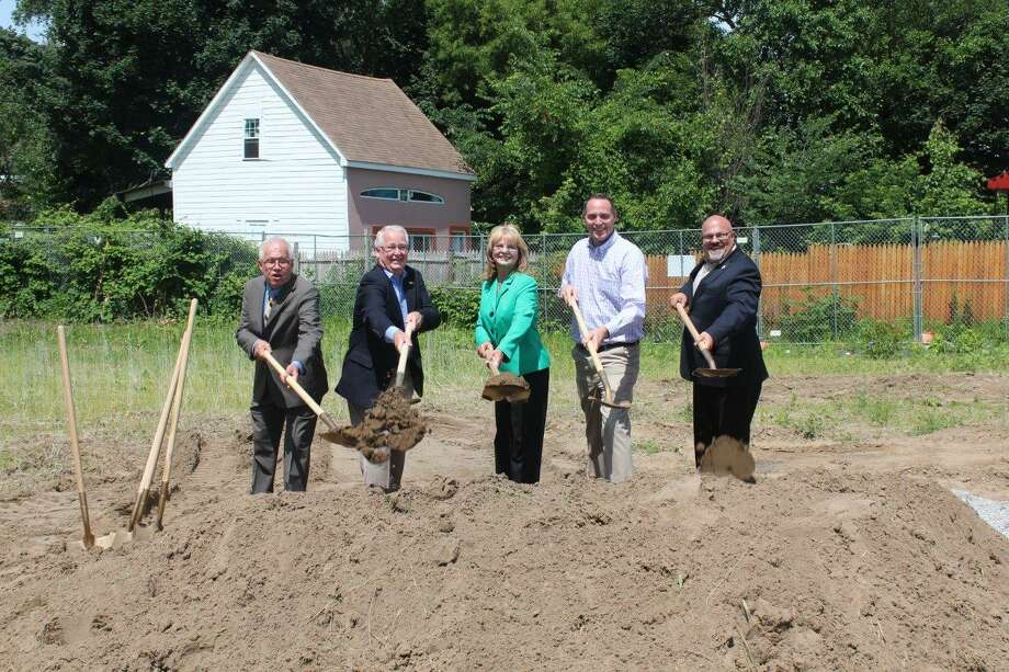 Ground was broken Thursday for the Phyllis Bornt branch of the Schenedctady County Library and family literacy center at 948 State St., Schenectady. (Submitted photo)