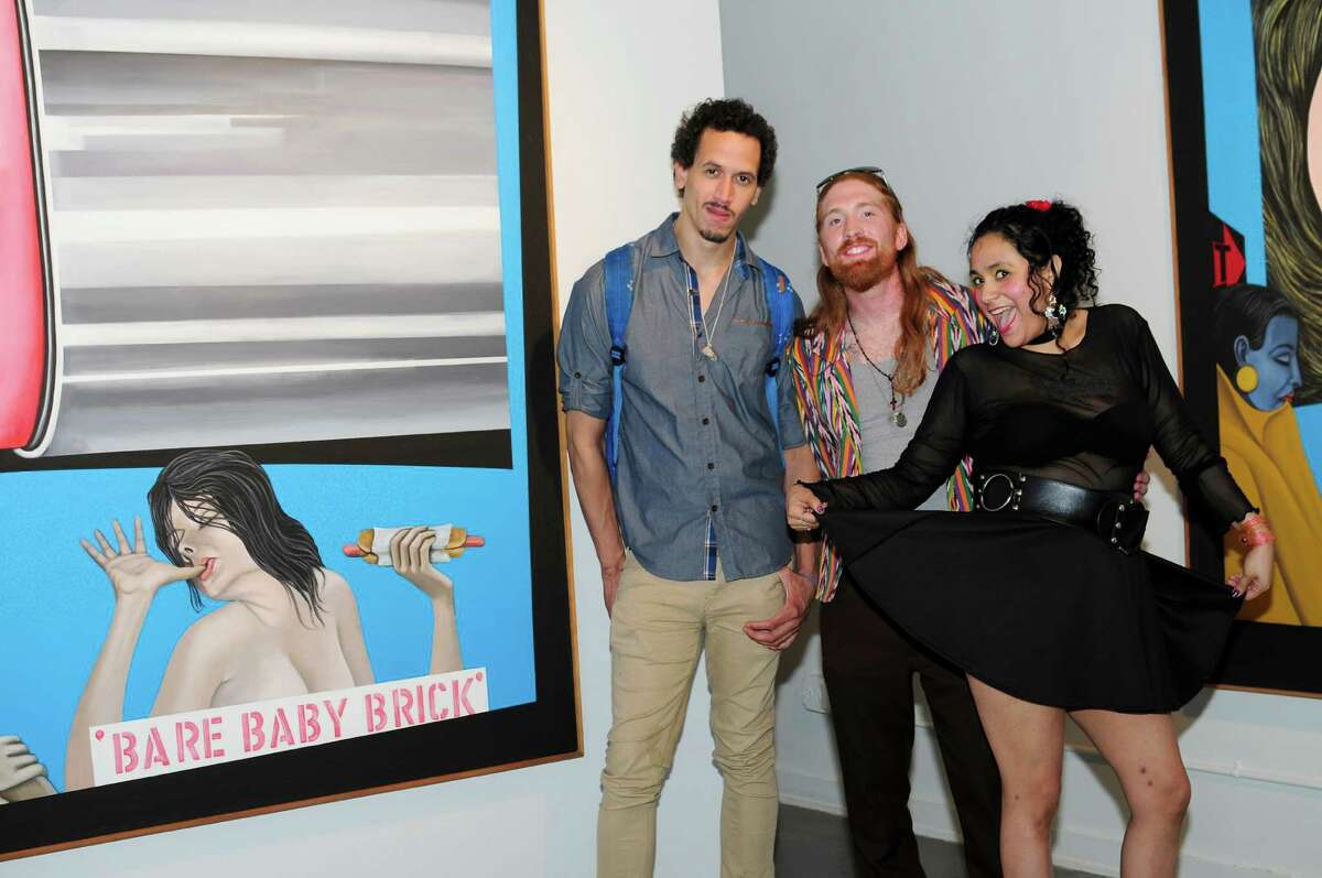S.A. residents attended the opening of SEX & CINEMA with Mel Casas, featuring the late artist's Humanscape paintings at the FL!GHT in the Blue Star Arts Complex on June 25, 2015.