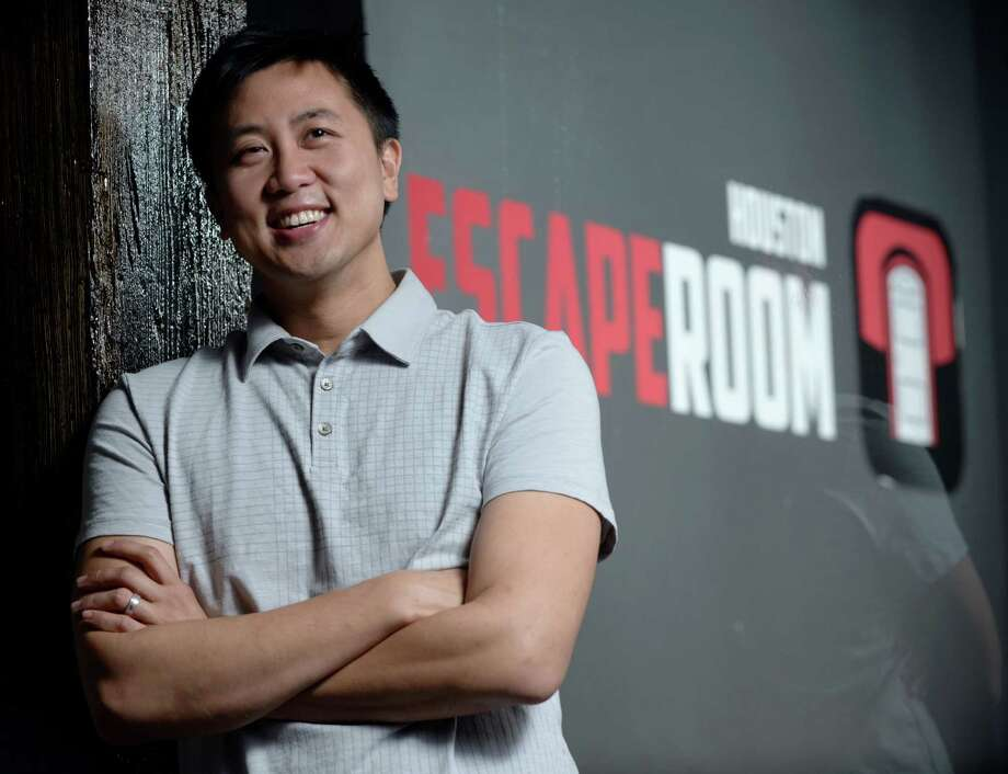 Ed Chao says Escape Room tests the detective skills of players. Photo: Jon Shapley, Staff / © 2015 Houston Chronicle
