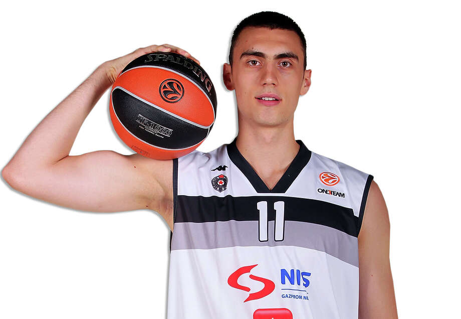 BELGRADE, SERBIA - SEPTEMBER 26: Nikola Milutinov of Partizan NIS Belgrade,  during the Partizan NIS Belgrad 2013/14 Turkish Airlines Euroleague Basketball Media Day session at Pionir on September 26, 2013 in Belgrade, Serbia.  (Photo by Marko Metlas/EB via Getty Images) Photo: Marko Metlas, Contributor / EB Via Getty Images / 2013 Euroleague Basketball