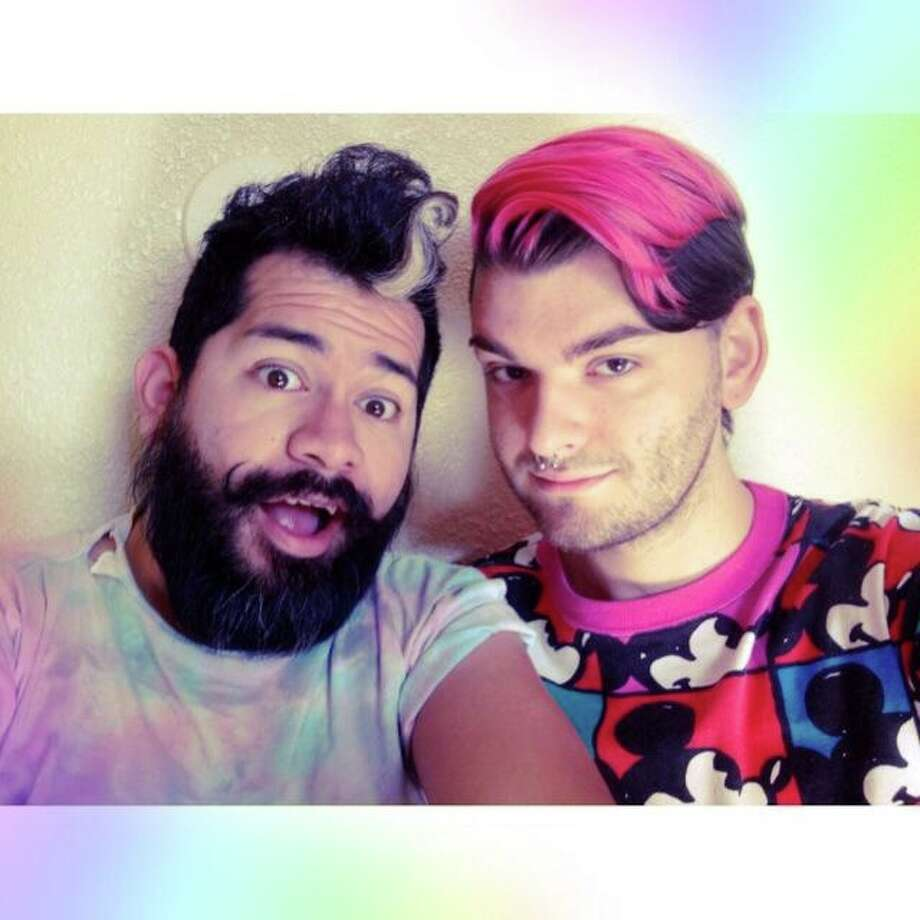Members of Houston's LGBT community, and straight allies, capture the emotion of the marriage equality ruling with a selfie. Check it out:Wade Fenty and Xavier Zuniga Garza. Photo: Courtesy Photo