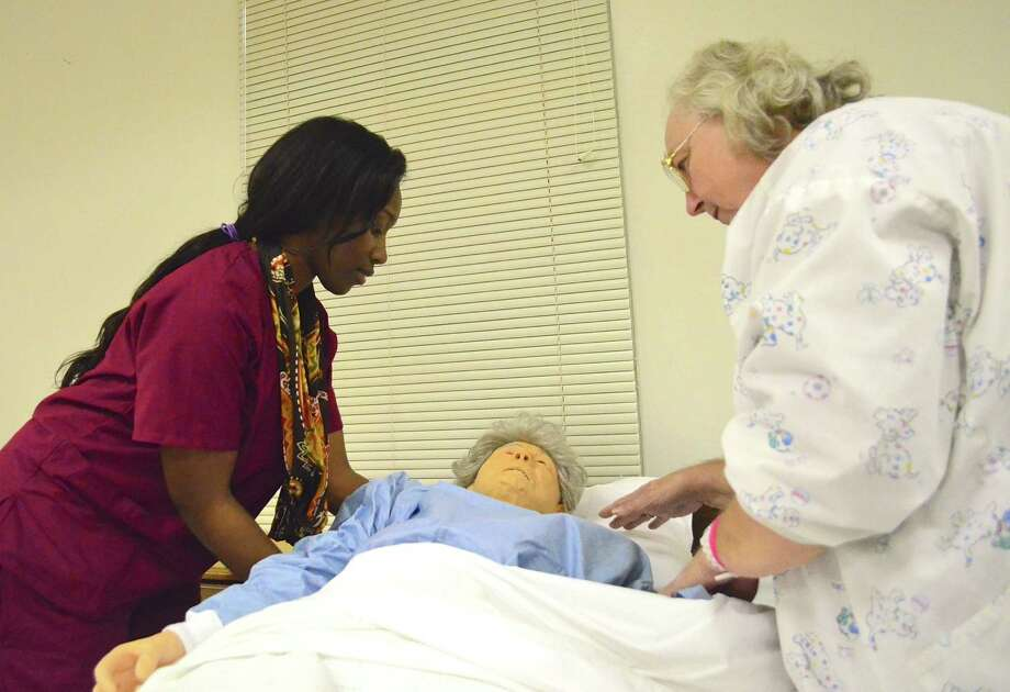 San Jacinto College South Campus offersthree nursing programs, from certified nurse aide ($10-$13/hour) to licensed vocational nurse ($45,000 annually) and associate degree nurses (RNs, $65,000), and demand for nurses in greater Houston, around the state and across the country continues to be strong.