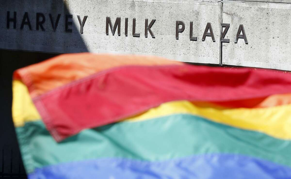 Harvey Milk Plaza was the location for much of the celebration of the Supreme Court's gay marriage decision in the Castro neighborhood in San Francisco, California, on Friday, June 26, 2015.