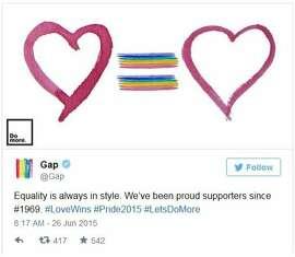 gap tweet