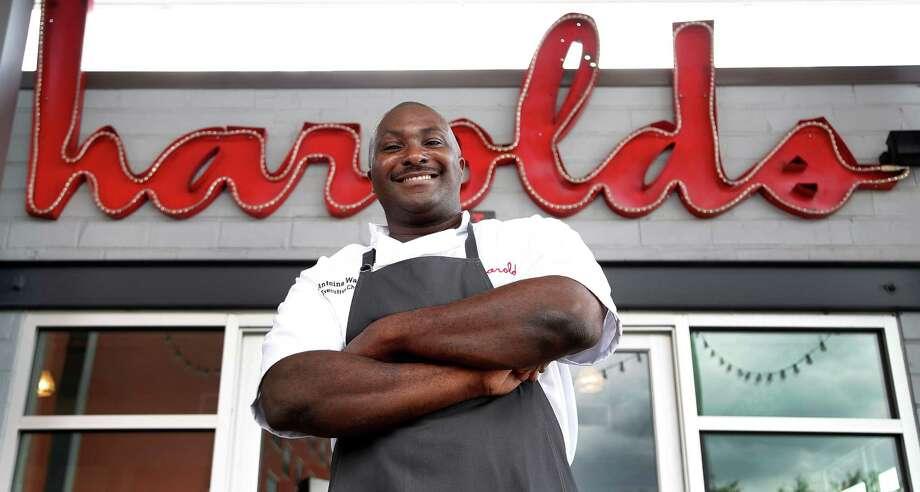 Chef Antoine Ware in front of Harold's in the Heights. Photo: Karen Warren, Staff / © 2015 Houston Chronicle