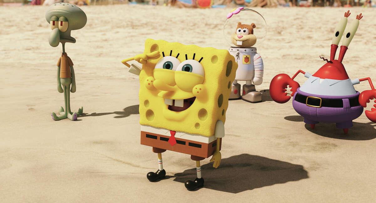 "Squidward Tentacles, SpongeBob SquarePants, Sandy Cheeks, and Mr. Krabs are stars of ""SpongeBob."""