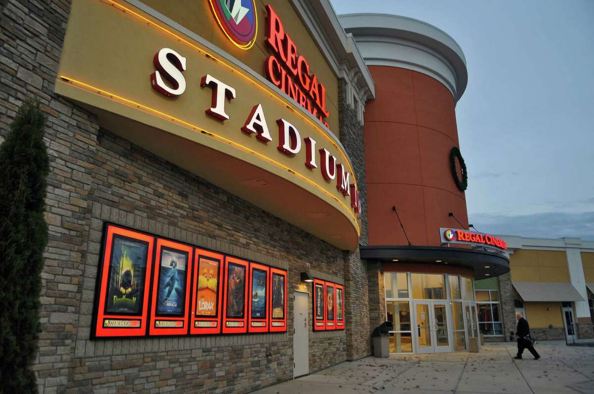 View of the entrance to the Regal Cinemas at the Clifton Park Center on Thursday Nov. 16, 2011 in Clifton Park, NY. The company acknowledged in Oct. 2020 it might permanently close as a result of the pandemic shutdown. (Philip Kamrass / Times Union )