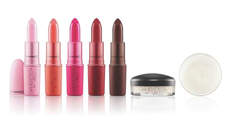 Fashion designer Giambattista Valli collaborates with MAC Cosmetics on a new collection of lipsticks and a crystal glaze gloss. Photo: MAC / MAC